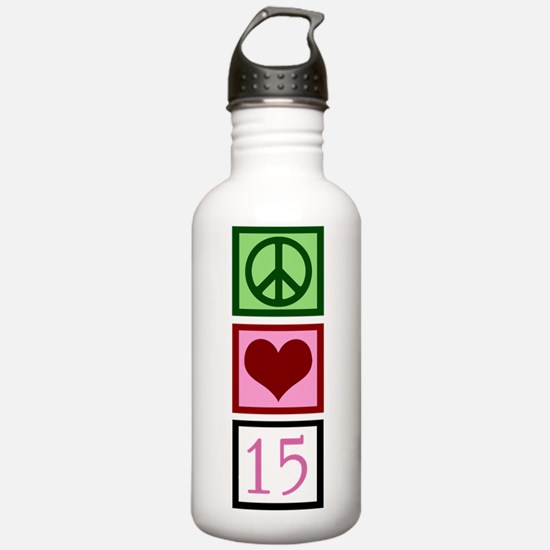 Peace Love Fifteen Water Bottle