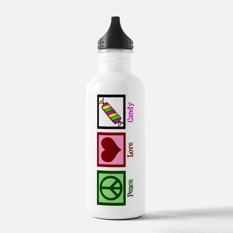 Peace Love Candy Water Bottle
