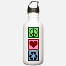 Peace Love Recycle Water Bottle