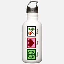 Peace Love Vegan Sports Water Bottle