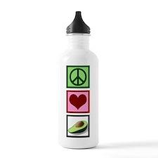 Peace Love Avocado Water Bottle