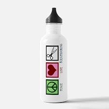 Peace Love Scrapbooking Water Bottle