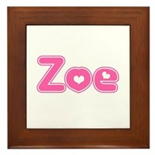 """Zoe"" Framed Tile"