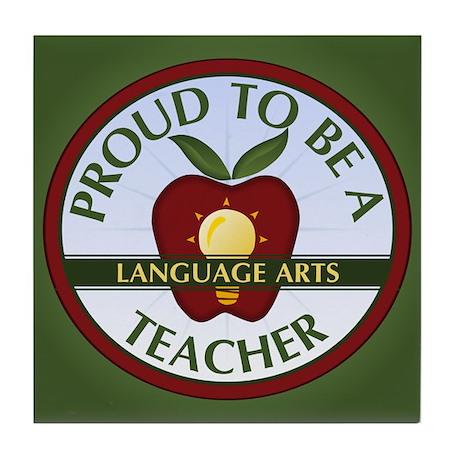 Language Arts Teacher Tile Coaster