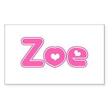 """Zoe"" Rectangle Decal"