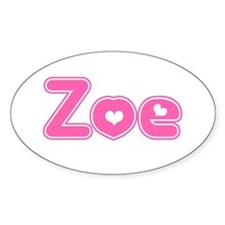 """Zoe"" Oval Decal"