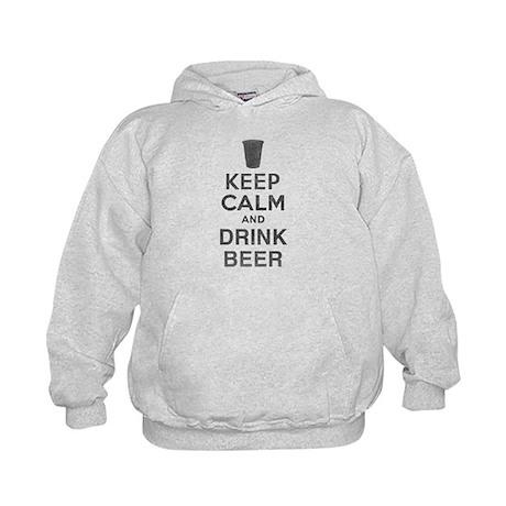 Keep Calm and Drink Beer Kids Hoodie