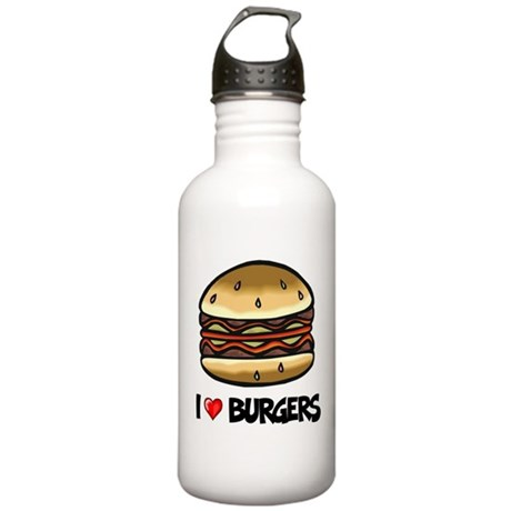I Love Burgers Stainless Water Bottle 1.0L