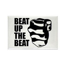Beat Up The Beat Rectangle Magnet