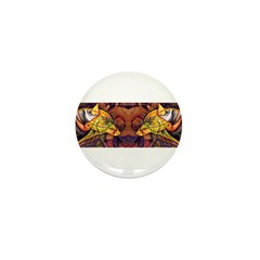 Two wolves Mini Button