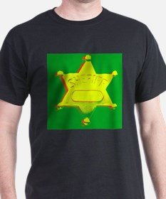 Rasta Sheriff Black T-Shirt