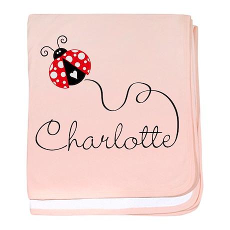 Ladybug Charlotte baby blanket