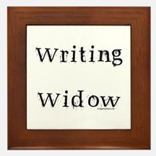 Writing widow Framed Tile