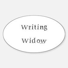 Writing widow Sticker (Oval)