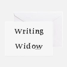 Writing widow Greeting Card