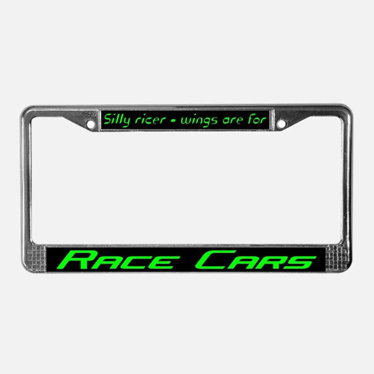 silly ricer license plate frame