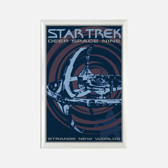 Retro Star Trek: DS9 Poster Rectangle Magnet