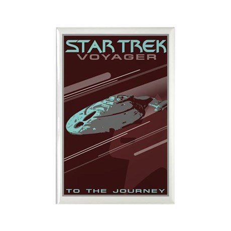 Retro Star Trek: VOY Poster Rectangle Magnet