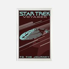 Retro Star Trek: VOY Poster Rectangle Magnet