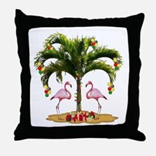 Tropical Holiday Throw Pillow
