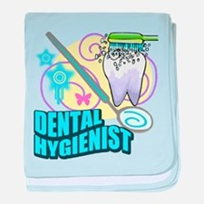 Dental Hygienists baby blanket