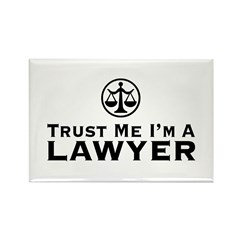 Trust Me I'm A Lawyer Rectangle Magnet