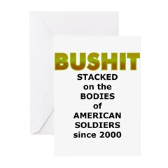 Stacked Bushit Greeting Cards (Pk of 10)