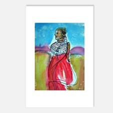 Africian Queen, Colorful, Postcards (Package of 8)