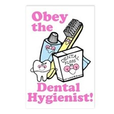Funny Dentist Dental Hygienis Postcards (Package o