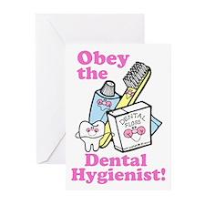 Funny Dentist Dental Hygienis Greeting Cards (Pk o