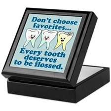 Funny Dentist Dental Hygienis Keepsake Box