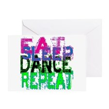 Eat Sleep Dance Repeat Greeting Card