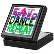 Eat Sleep Dance Repeat Keepsake Box