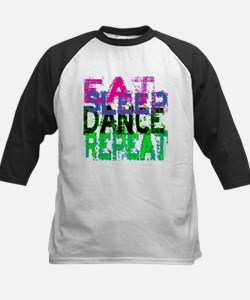 Eat Sleep Dance Repeat Kids Baseball Jersey