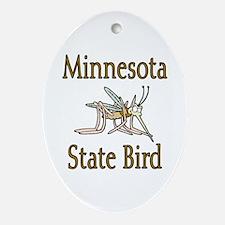 Minnesota State Bird Ornament (Oval)