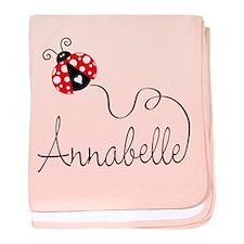 Ladybug Annabelle baby blanket