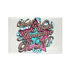 Worlds Most Awesome RN Rectangle Magnet (100 pack)