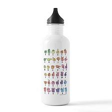 PAS Fingerspelled ABC Water Bottle