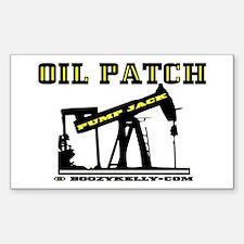Oil Patch Pump Jack Sticker(Rectangle)Oil