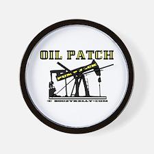 Oil Patch Pump Jack Wall Clock,Oil,Oilman