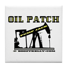 Oil Patch Pump Jack Tile Coaster,Oil,Barware