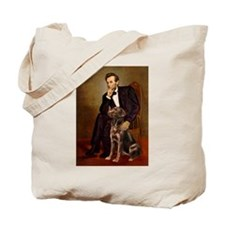 Lincoln / Chocolate Lab Tote Bag