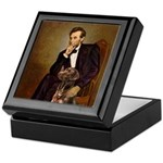 Lincoln / Chocolate Lab Keepsake Box