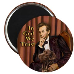 "Lincoln / Chocolate Lab 2.25"" Magnet (10 pack)"