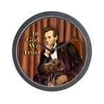 Lincoln / Chocolate Lab Wall Clock