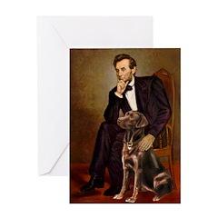 Lincoln / Chocolate Lab Greeting Card