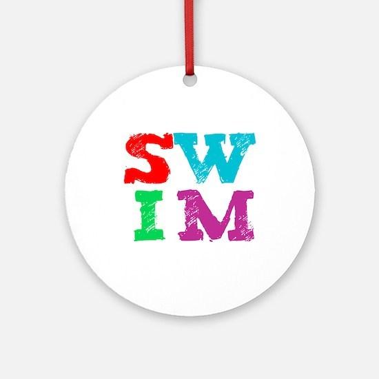 SWIM Ornament (Round)