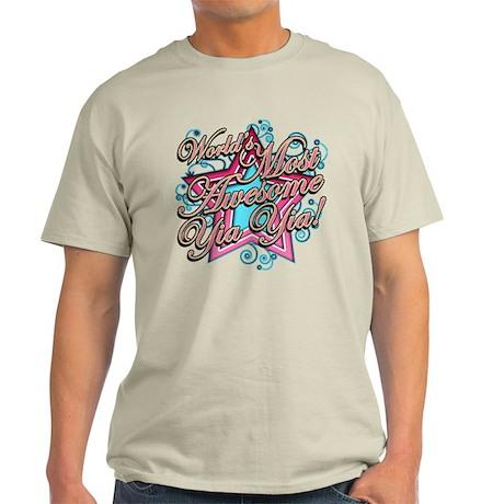 Worlds Best Yia Yia Light T-Shirt
