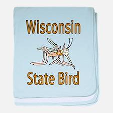 Wisconsin State Bird baby blanket