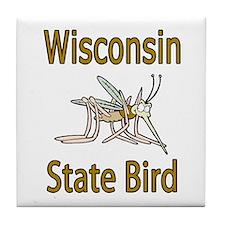 Wisconsin State Bird Tile Coaster